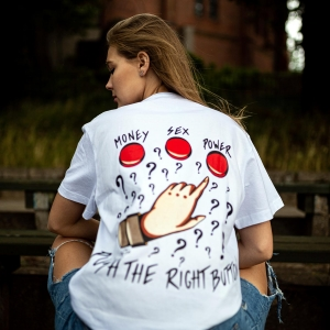 Push The Right Button Tee